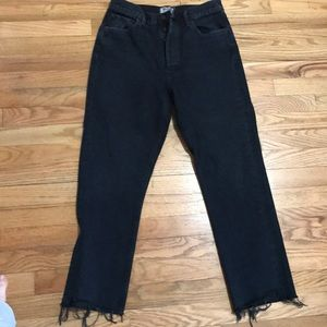 AGolde button fly high rise straight leg jean